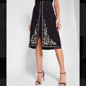 Ted Baker London Hampton Embroidered A-Line Skirt